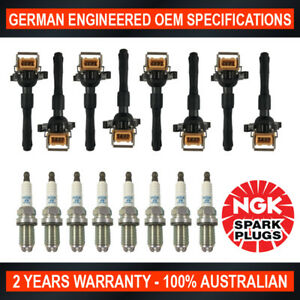 8x NGK Platinum Spark Plugs & 8x Ignition Coils for BMW X5 535i 540i 735i M5