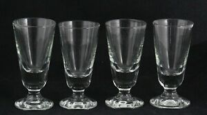 4x antique 1930's, large, handmade Bistro or Absinthe Glass, 15cm / 5.9 inch