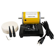 Mini Polisher Polishing Machine Dental Jewelry Lathe Bench top Buffing Grinder A