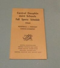 1964 Central Dauphin Joint Schools Pennsylvania Fall Sports Schedule Football