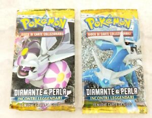 2008 Italian Pokemon TCG Diamante & Perla Sealed Booster Packs Lot of 2
