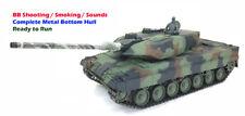 Heng Long 1/16 RC NATO Leopardo 2A6 BB vasca piena telaio di metallo Hull Bottom