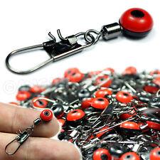 10x Perlen-Lauf-Wirbel, Angelzubehör für Posen, Blei, Futterkorb, Waggler, NEU