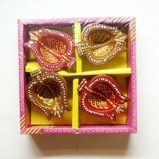 Decorative Diwali Diya- puja & Festival Pack of 4 New