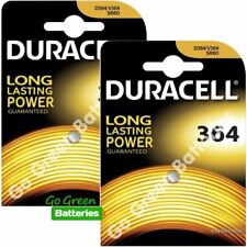2xDuracell 364 1.5V Silver Oxide watch battery SR60 D364 SP364 SR621W V364 SR621