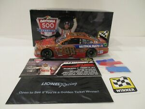 DALE EARNHARDT JR & LETARTE . signed 2014 . GUARD . DAYTONA 500 WIN . 1/24 CAR