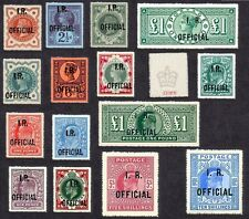 Queen Victoria -King Edward VII INLAND REVENUE OFFICIALS  Set of 15 (forgeries)