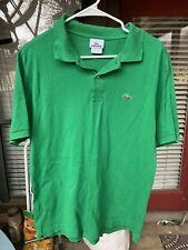 Men's Lacoste Short Sleeve Classic Pique Polo Green Medium M Free Shipping