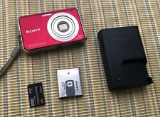 SONY Cyber-Shot DSC-W190 12.1MP Digital Camera Red - MINT - Complete