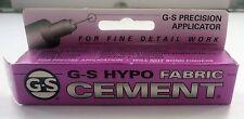 G-S Precision Applicator Hypo Fabric Cement Glue Item # GLU105 - NEW