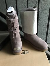 New in Box Ugg Allegra Double Bow Women's Boots Stormy Grey US 5 Sheepskin