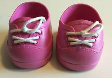 CABBAGE PATCH KIDS CPK 2004 HOT PINK LACE UP SHOES - NICE CONDITION!