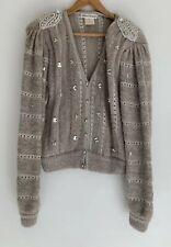 ANN NIT STUDIO amazing Beaded Jewel Mohair Vintage Cardigan 10-14