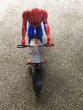 SPIDER-MAN BIKE CYCLE 12'' INCH ACTION FIGURE COMPLETE MARVEL AVENGERS TITAN