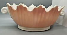 Vintage Fitz & Floyd Scalloped Porcelain Centerpiece Bowl