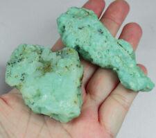305.3Ct Natural Brazilian Green Opal Facet Rough Specimen YOA37