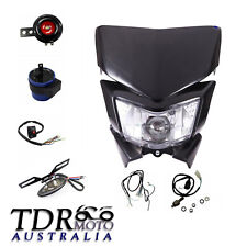 Black Rec Reg Head Tail Light kit for Honda CRF150 CRF450X CRF250 Dirt Bike