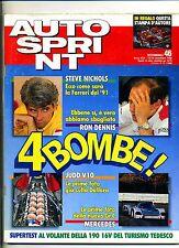 AUTO SPRINT # Anno XXX N.46 13-19 Novembre 1990 #Rivista Settimanale#Conti Ed.