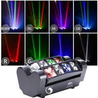 80W Mini LED RGBW Stage Lighting Spider Beam Moving Head Light DMX Party DJ Club