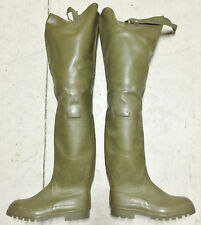 Rare Vintage French Aigle Green Rubber Hip Waders Boots US9 UK8 EU42 Watstiefel