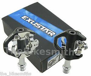 Exustar E-PR50 Single-Sided Clipless Road Lite Pedals w/Cleats fits Shimano SPD
