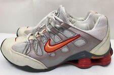 Womens NIKE SHOX 312019-181 050810 White & Orange Running Shoes SIZE 9.5 EUR 41