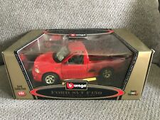 Burago 1999 FORD SVT F150 Lightning 1/18 Scale Diecast Truck RED NEW IN BOX