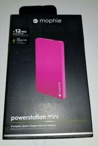 Mophie Powerstation Mini Compact Quick Charge External Battery 3,000mAh Pink NEW