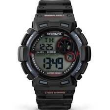 Sekonda Digital Chronograph Black Resin Strap Gents Watch 1034