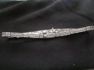 Bracelet Diamond 0.02 cts. 18cms. Stainless Steel in Excellent as New Condition.