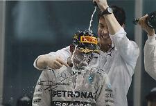 TOTO WOLFF Firmato a Mano 12x8 PHOTO Mercedes AMG Petronas f1 5.