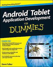 (Good)-Android Tablet Application Development For Dummies (Paperback)-Felker, Do