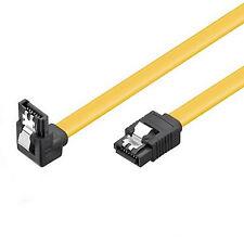 SATA Kabel 50cm s-ATA 6 Gb/s High Speed gewinkelt Winkel Metallclip SSD HDD 0,5m