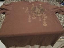 Structure T-Shirt - Brown - Small - Tan Crest