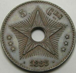 CONGO 5 Centimes 1888 - Copper - XF+ - 1951 ¤