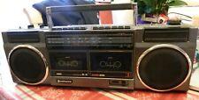 Hitachi TRK-W22H Boombox GhettoBlaster Radio Tested Works Look