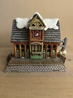 Vintage Lefton Train Station 1987 Colonial Village Christmas Cottage House