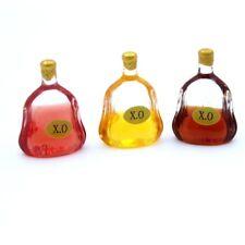 3 Dollhouse Miniature Drink Food X.O Wine Bottles Kitchen Garden Bar Accessories