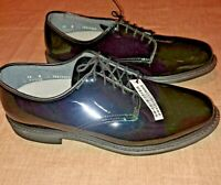 Men's Shoes Capp Air-lite Black Patent Leather Size 12-D Dress/Military/Police