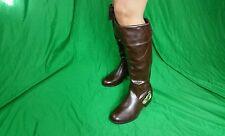 Women's Knee High Boots brand DbDb sz 8 brown zip up