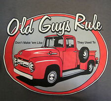 Old Guys Rule Red Truck Tee Shirt, Large,Don't Make em Like They Used To,Cotton