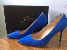 New Jcrew Elsie Suede Blue Tidewater Heels Pumps 7