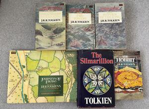 6 J.R.R. Tolkien Books ( The Silmarillion, Journeys Of Frodo, The Hobbit, LOTR )