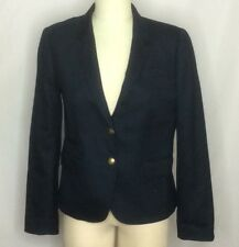 J. Crew Wool Schoolboy Jacket Blazer Sz 10 Navy Excellent Condition