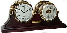 Brass 24 Hour Clock Barometer Thermometer Set