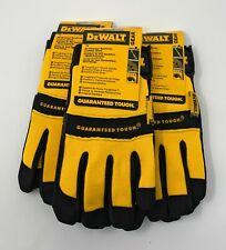 3 Pack DEWALT DPG20 All Purpose Synthetic Leather Glove