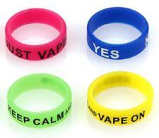 4× Vape bands, Dampfschutz Ringe, gemischte Farben mit lustigen Sprüchen