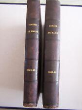 2 LIVRES LE ROSIER DE MARIE , JOURNAL EN L' HONNEUR DE LA SAINTE VIERGE , 1863 .