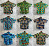 Men's Hawaiian Shirt 100% Cotton Summer Floral Beach Vintage Short Sleeve S-XXL