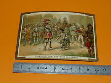 CHROMO 1890 - 1910 FRANCOIS 1ER CHEVALIER PAR BAYARD ARMURES SACRE